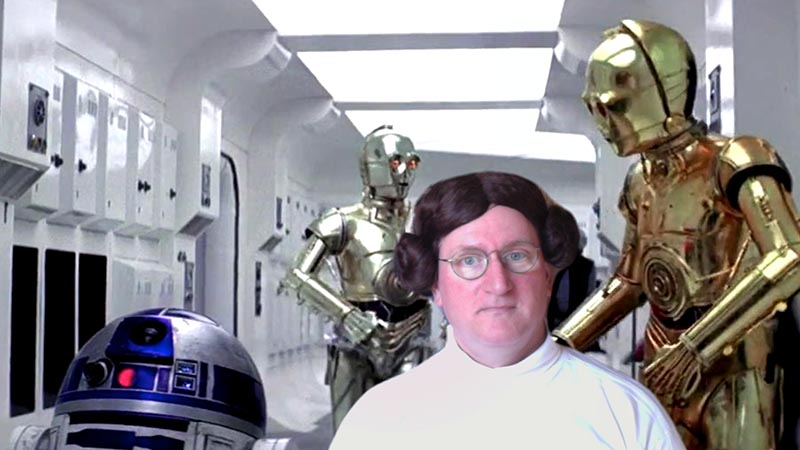 dan russell dressed as princess leia from star wars