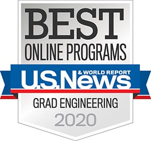 us news best online engineering grad programs badge