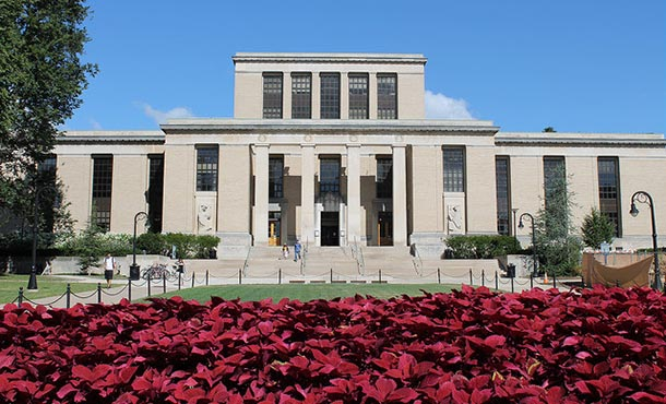 exterior view of a building on the penn state campus